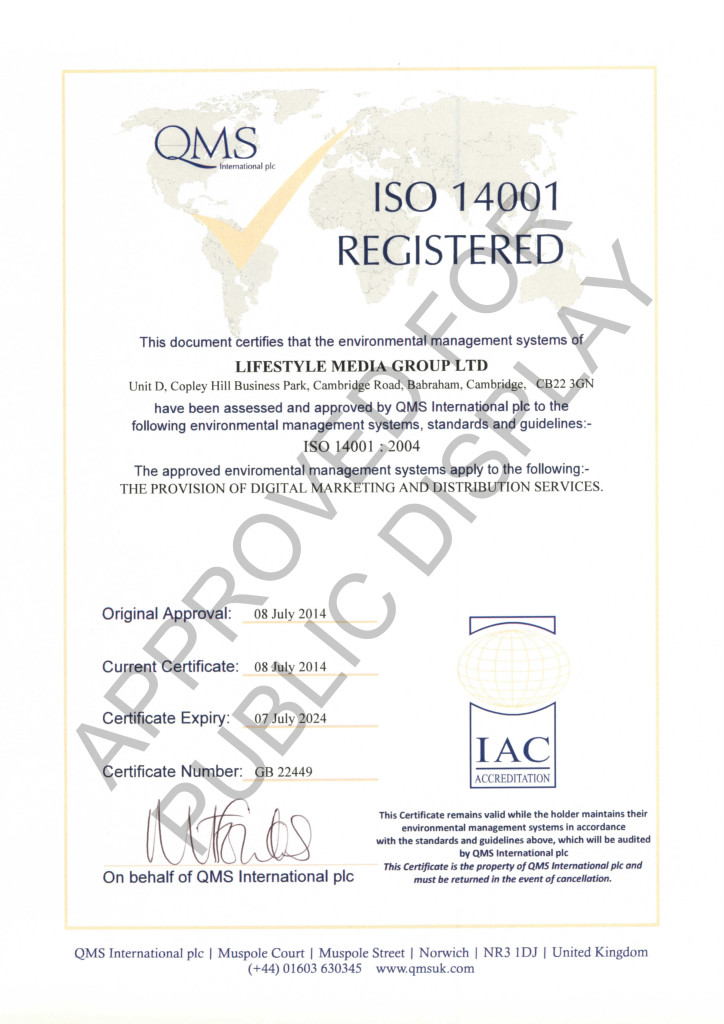 LMG ISO 14001 accreditation