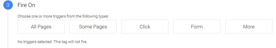 google tag trigger pages
